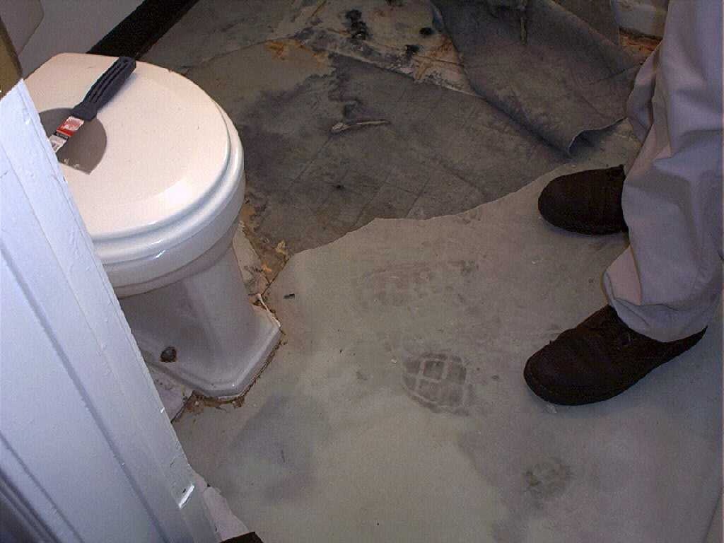 Fixing The Bathroom Floor - How to repair bathroom floor